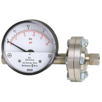Liquid Differential Pressure Gauge, 0-2 bar